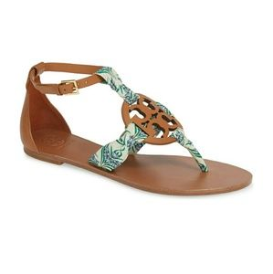 New Tory Burch Miller Scarf Sandal size 8